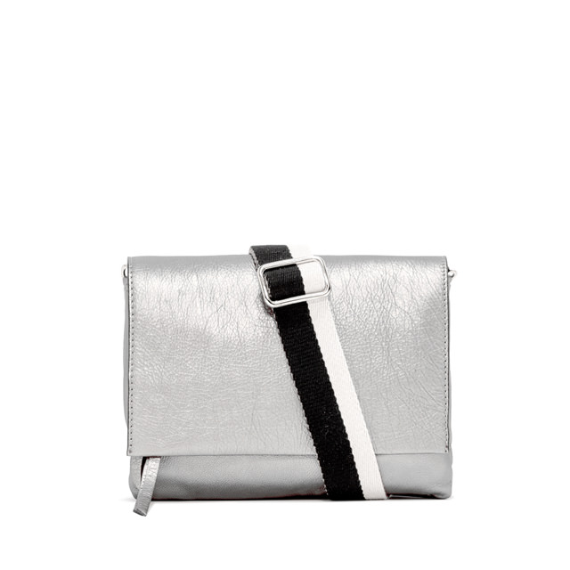 GIANNI CHIARINI LARGE SIZE THREE CROSSBODY BAG COLOR SILVER