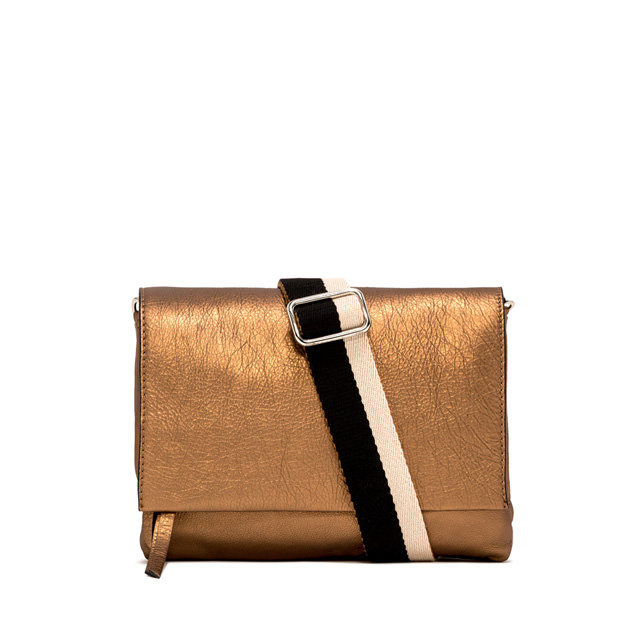 GIANNI CHIARINI: LARGE SIZE THREE CROSSBODY BAG COLOR BRONZE