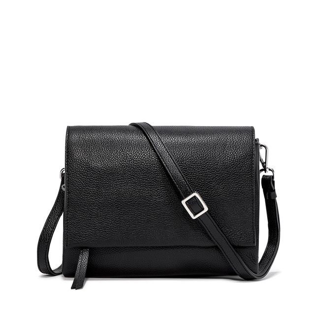 GIANNI CHIARINI LARGE SIZE THREE CROSSBODY BAG COLOR BLACK
