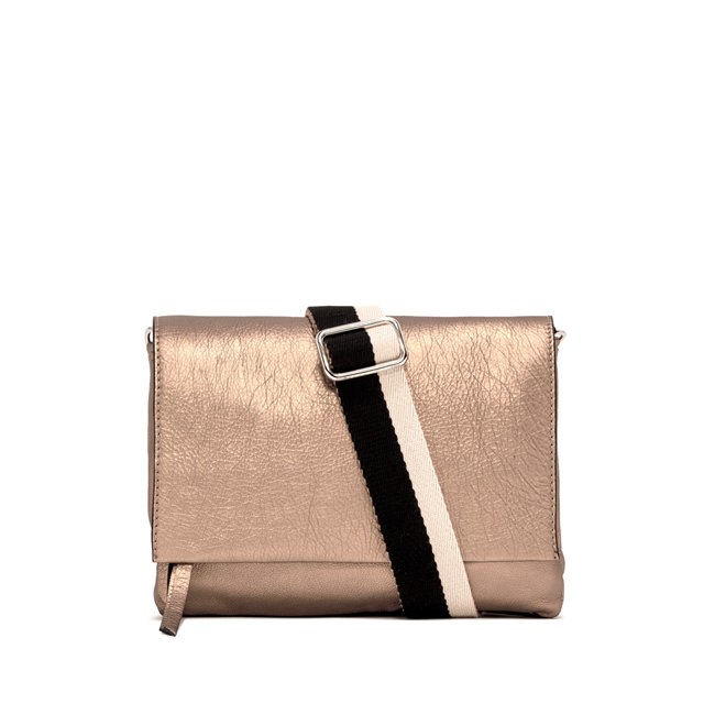 GIANNI CHIARINI: LARGE SIZE THREE CROSSBODY BAG COLOR GOLD