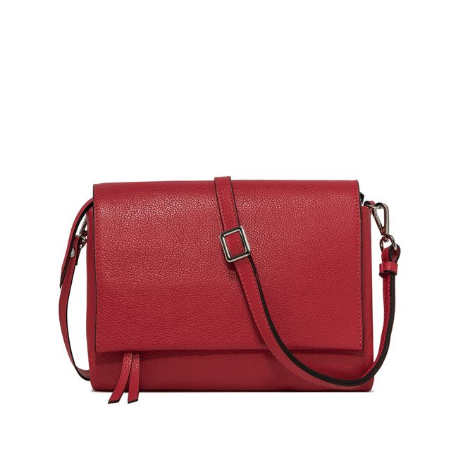 GIANNI CHIARINI LARGE SIZE THREE CROSSBODY BAG COLOR RED