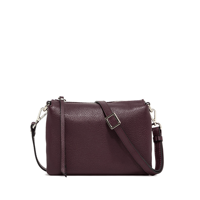 GIANNI CHIARINI BORSA A TRACOLLA THREE MEDIUM  MARRONE