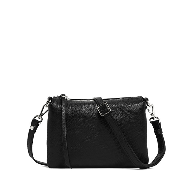 GIANNI CHIARINI: THREE MEDIUM CROSSBODY BAG COLOR BLACK
