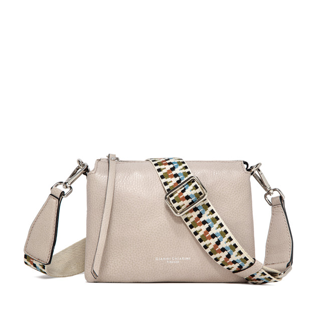 GIANNI CHIARINI: THREE MEDIUM  BEIGE HANDBAG