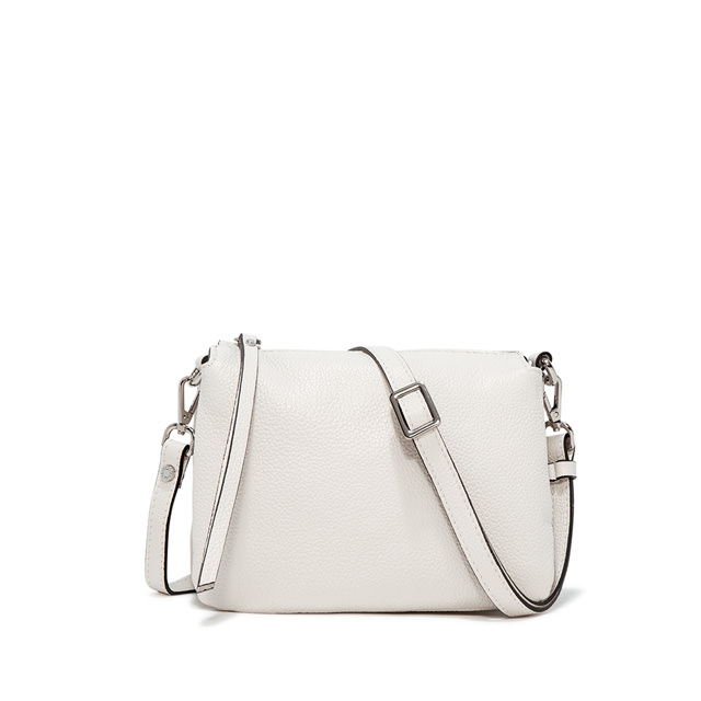 GIANNI CHIARINI BORSA A TRACOLLA THREE MEDIUM BIANCO