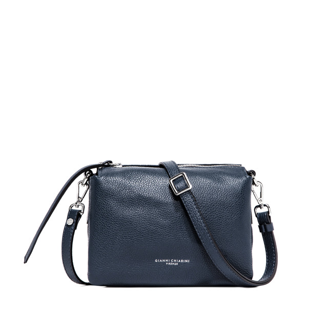 GIANNI CHIARINI BORSA A TRACOLLA THREE MEDIUM BLU