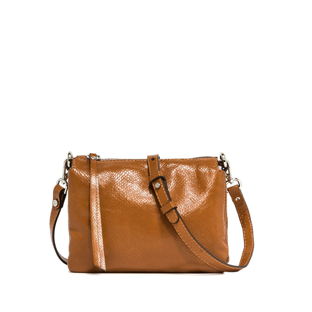 GIANNI CHIARINI MEDIUM SIZE THREE CROSSBODY BAG COLOR BROWN