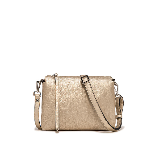 GIANNI CHIARINI: BORSA A TRACOLLA THREE MEDIUM ORO