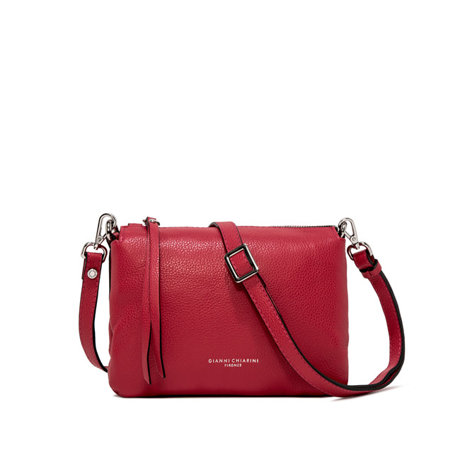GIANNI CHIARINI: BORSA A TRACOLLA THREE MEDIUM ROSSA