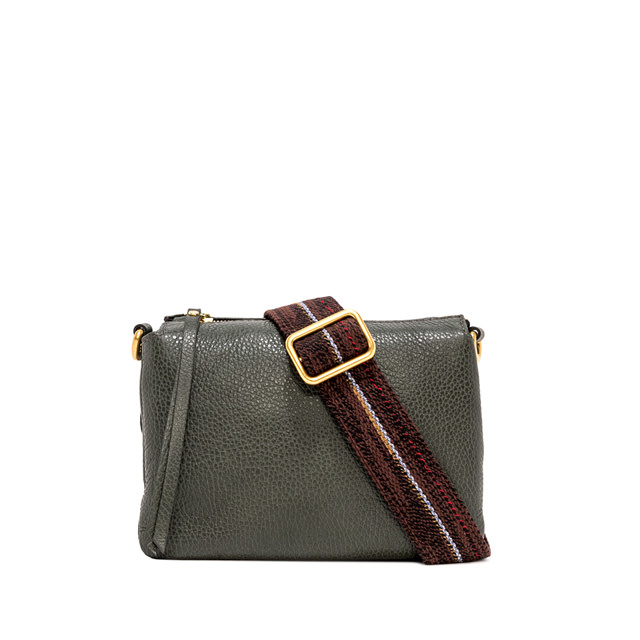 GIANNI CHIARINI: MEDIUM SIZE THREE CROSSBODY BAG COLOR GREEN