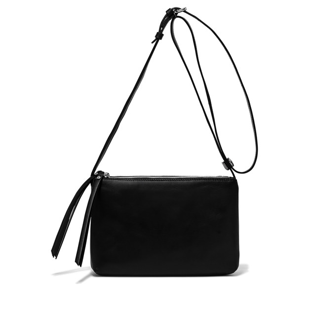 GIANNI CHIARINI LARGE SIZE TRINNY CROSSBODY BAG COLOR BLACK