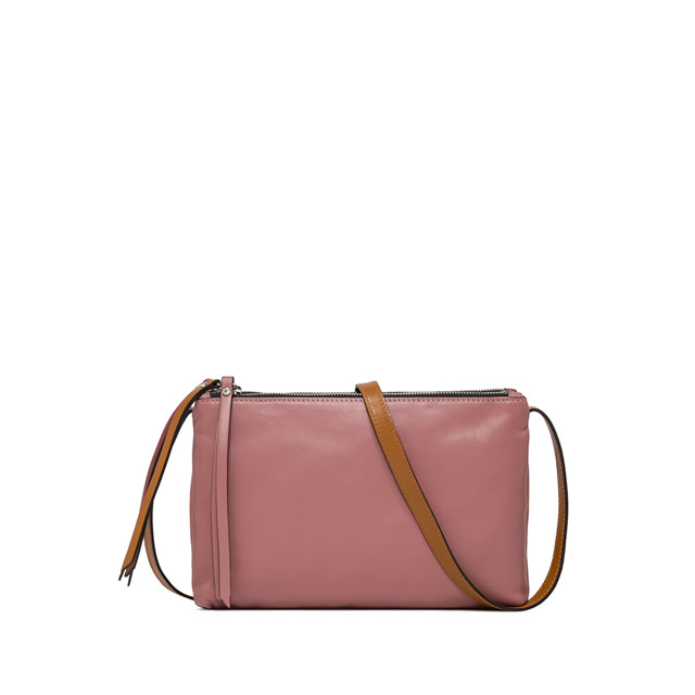 GIANNI CHIARINI LARGE SIZE TRINNY CROSSBODY BAG COLOR PINK