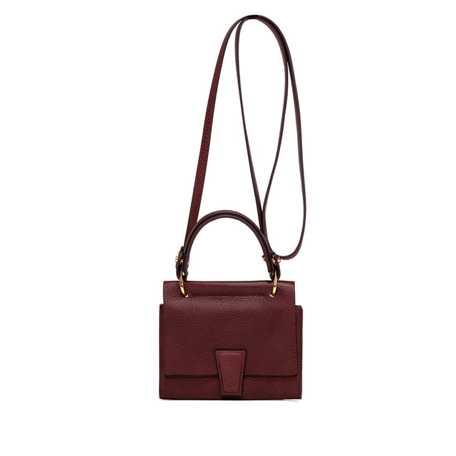 GIANNI CHIARINI: ELETTRA MINI BAG WALLET SMALL BURGUNDY
