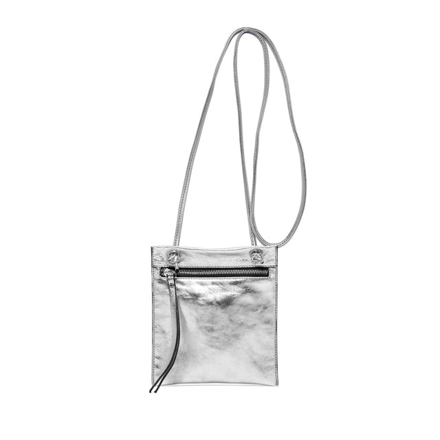 GIANNI CHIARINI MEDIUM SIZE MINI POLLY BAG COLOR SILVER