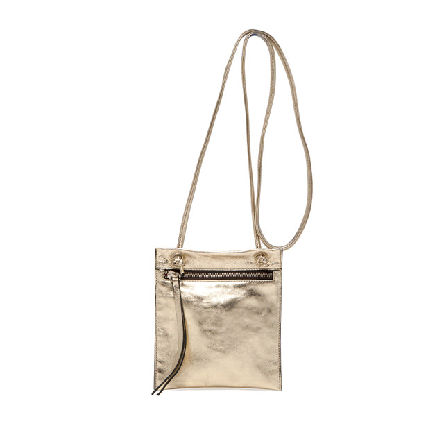 GIANNI CHIARINI MEDIUM SIZE MINI POLLY BAG COLOR GOLD
