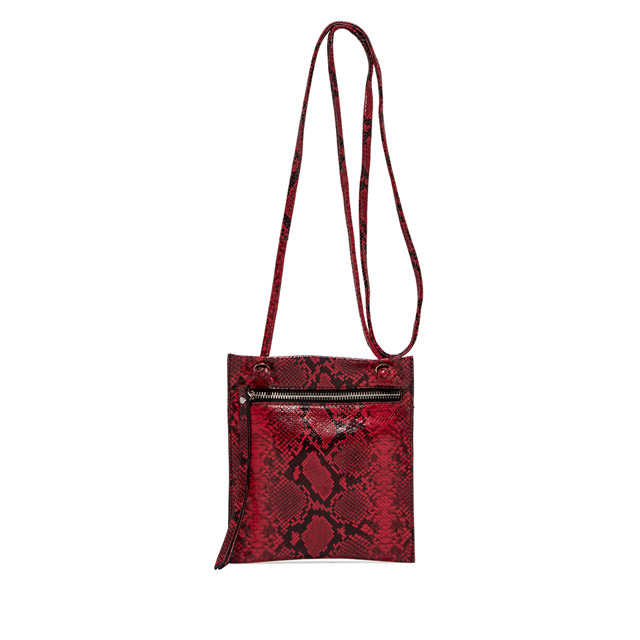 GIANNI CHIARINI: MEDIUM SIZE MINI POLLY BAG COLOR RED