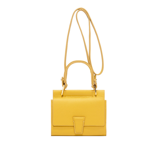 GIANNI CHIARINI: BORSA MINI WALLET ELETTRA SMALL GIALLO