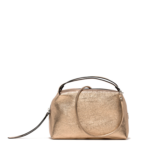 GIANNI CHIARINI: MEDIUM SIZE ALIFA HAND BAG COLOR GOLD