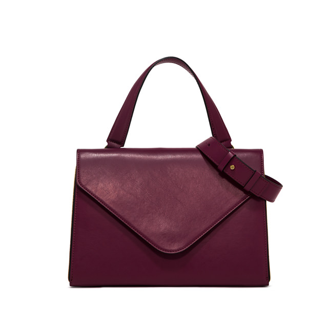 GIANNI CHIARINI GRETA MEDIUM BORDEAUX HANDBAG