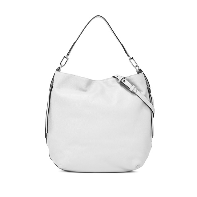 GIANNI CHIARINI JERSY LARGE WHITE SHOULDER BAG