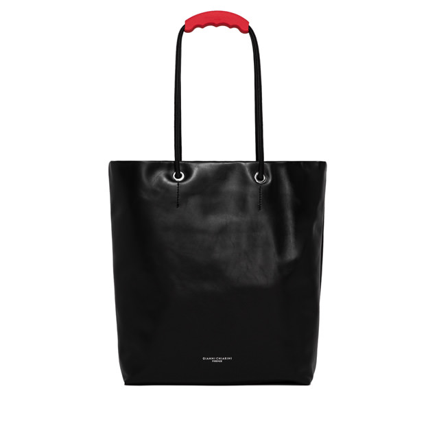 GIANNI CHIARINI POLLY LARGE BLACK SHOPPING BAG