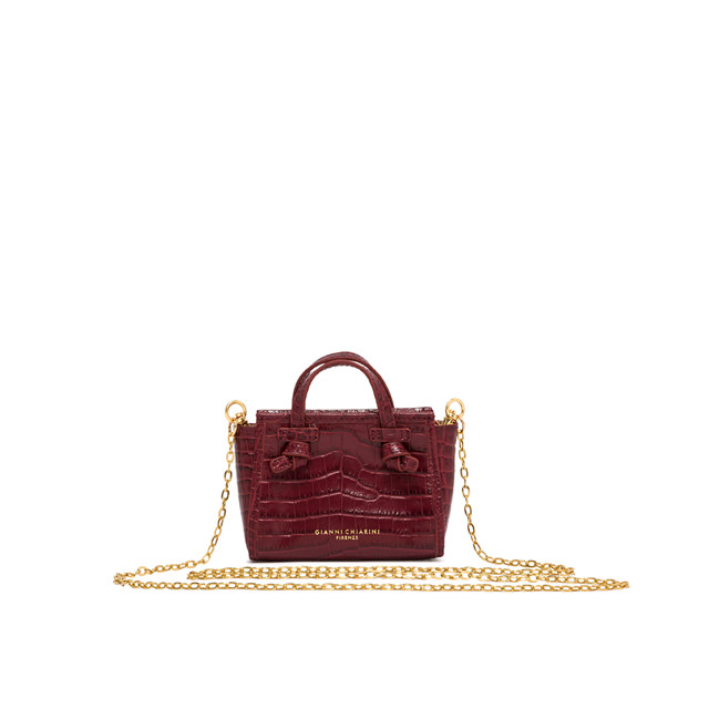 GIANNI CHIARINI MICRO MARCELLA COLOR BORDEAUX