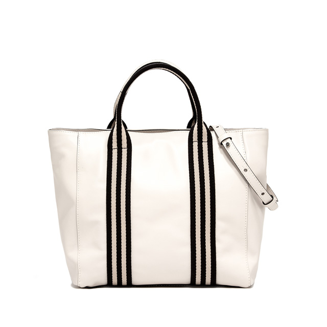GIANNI CHIARINI GINGER MEDIUM WHITE SHOPPING BAG