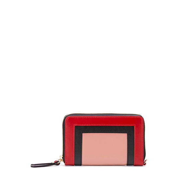 GIANNI CHIARINI OLYMPIA MEDIUM RED WALLET