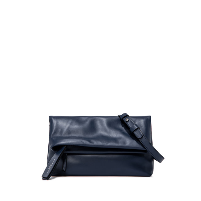 GIANNI CHIARINI: CHERRY  SMALL  BLUE  CLUTCH  BAG
