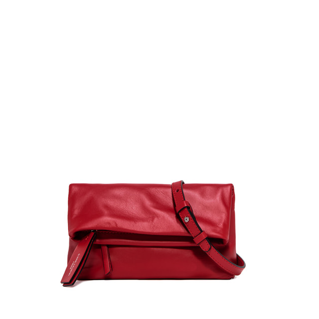 GIANNI CHIARINI: CHERRY  SMALL  RED  CLUTCH  BAG