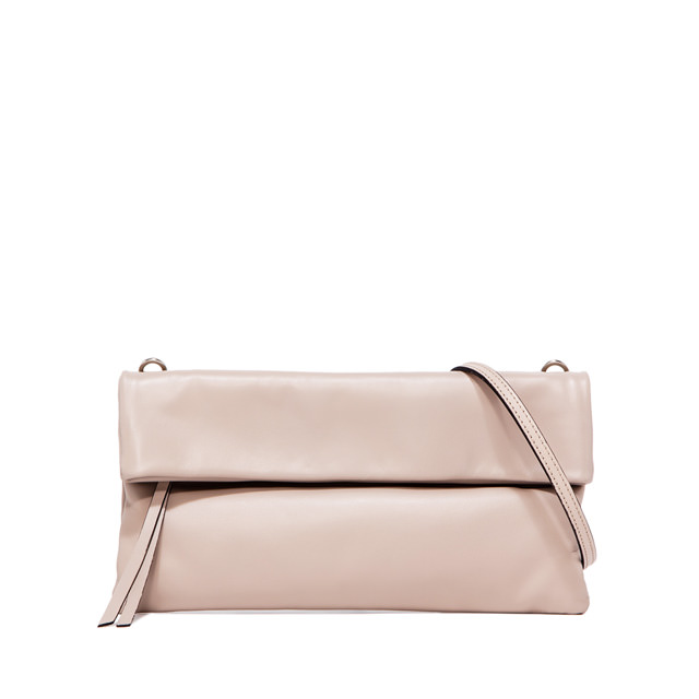 GIANNI CHIARINI: CHERRY  MEDIUM  NUDE  CLUTCH  BAG