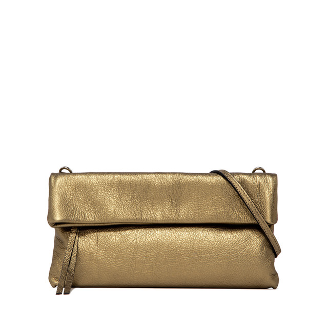 GIANNI CHIARINI CHERRY  MEDIUM  GOLD  CLUTCH  BAG
