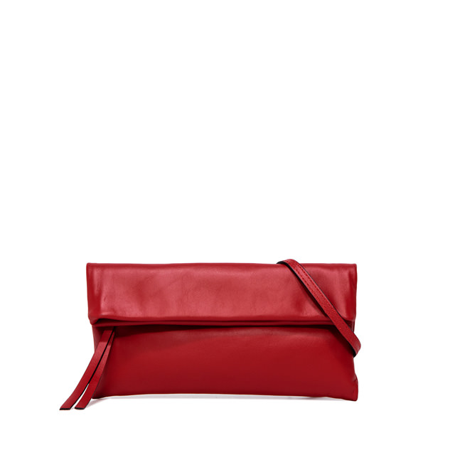 GIANNI CHIARINI CHERRY  SMALL  RED  CLUTCH  BAG