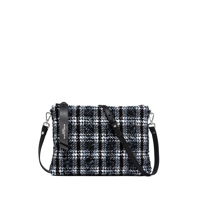 GIANNI CHIARINI ELETTRA  MEDIUM  BLACK  CLUTCH  BAG