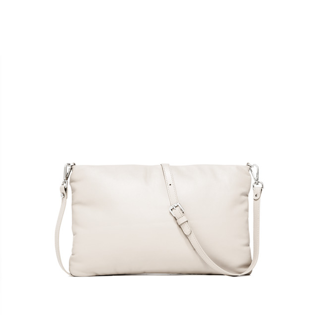 GIANNI CHIARINI PIUMA SUPERSOFT  MEDIUM  WHITE  CLUTCH  BAG