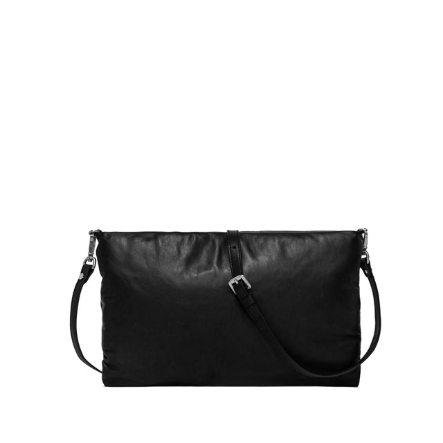 GIANNI CHIARINI: PIUMA  MEDIUM  BLACK  CLUTCH  BAG