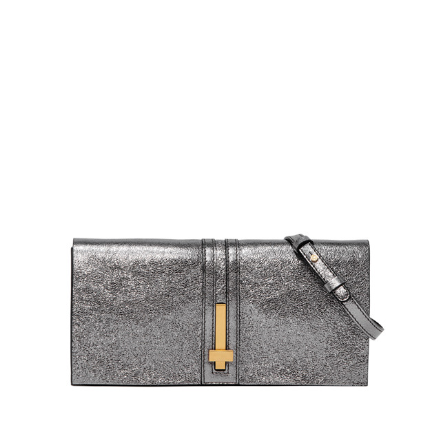 GIANNI CHIARINI PREZIOSA  MEDIUM  SILVER  CLUTCH
