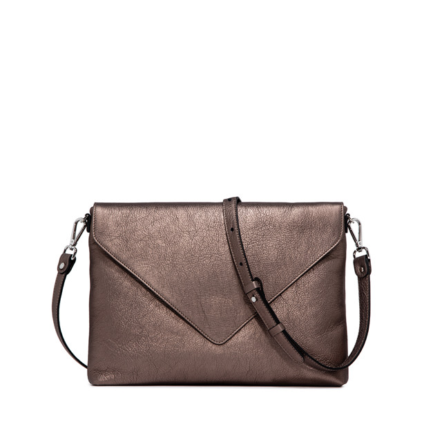 GIANNI CHIARINI VICTORIA  LARGE  BRONZE  CLUTH  BAG
