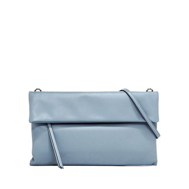 GIANNI CHIARINI CHERRY LARGE LIGHT BLUE CLUTCH BAG
