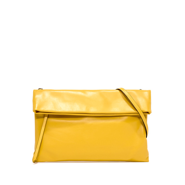 GIANNI CHIARINI: POCHETTE CHERRY LARGE GIALLO