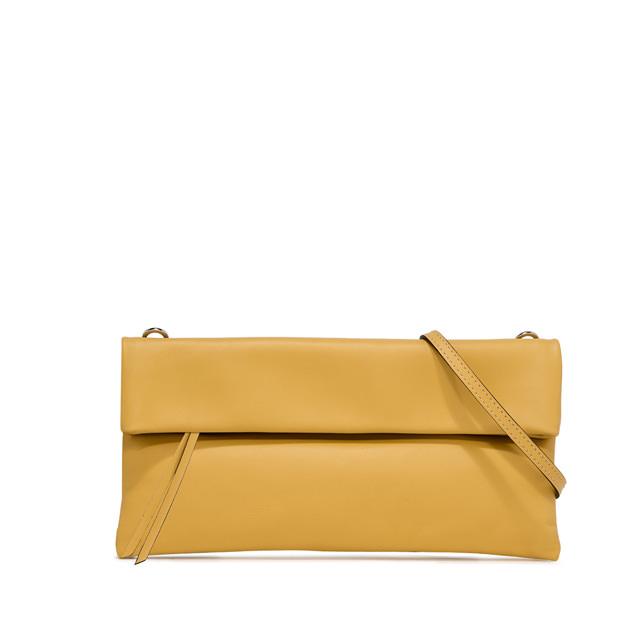 GIANNI CHIARINI: POCHETTE CHERRY MEDIUM GIALLO