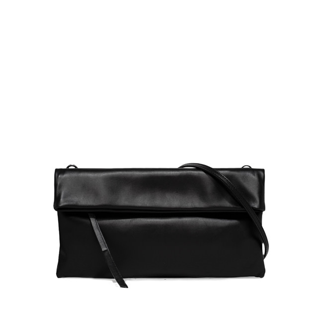 GIANNI CHIARINI: CHERRY MEDIUM BLACK CLUTCH BAG