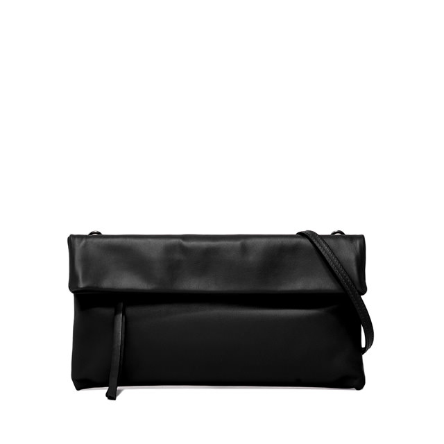 GIANNI CHIARINI MEDIUM SIZE CHERRY CLUTCH BAG COLOR BLACK