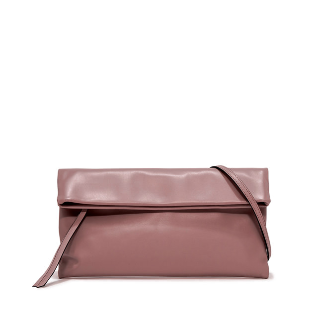 GIANNI CHIARINI MEDIUM SIZE CHERRY CLUTCH BAG COLOR PINK