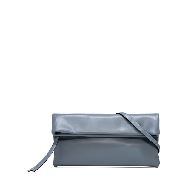 GIANNI CHIARINI: CHERRY SMALL LIGHT BLUE CLUTCH BAG