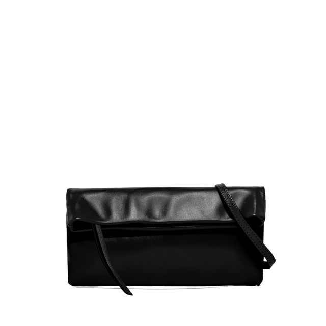GIANNI CHIARINI SMALL SIZE CHERRY CLUTCH BAG COLOR BLACK