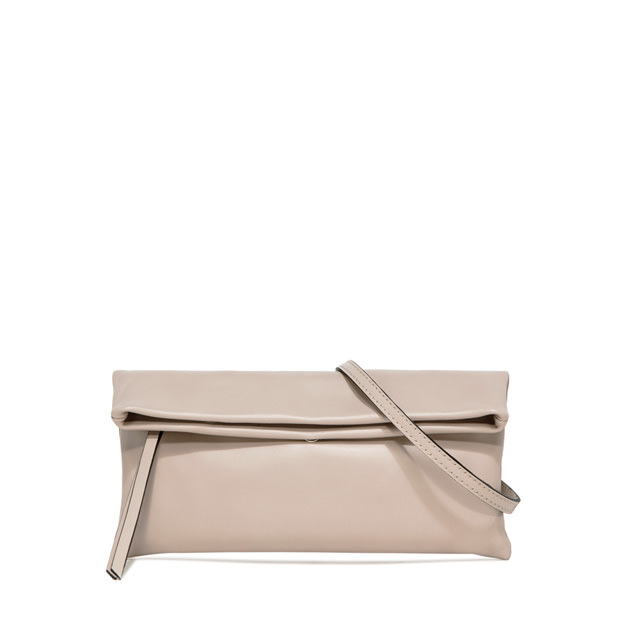 GIANNI CHIARINI: CHERRY SMALL NUDE CLUTCH BAG