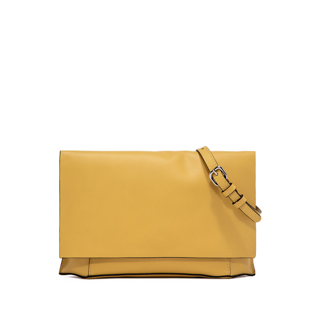 GIANNI CHIARINI: POCHETTE CLUTCH LARGE GIALLO