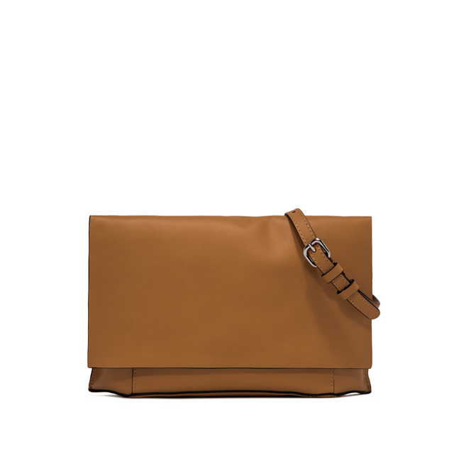 GIANNI CHIARINI POCHETTE CLUTCH LARGE MARRONE