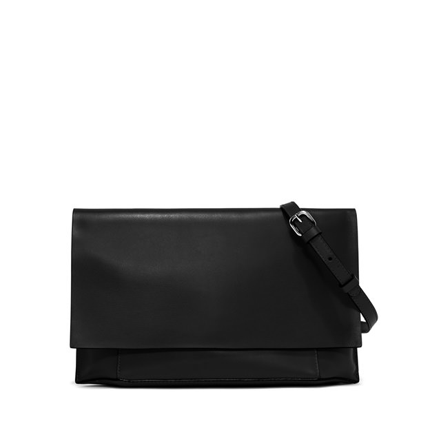 GIANNI CHIARINI: POCHETTE CLUTCH LARGE NERO